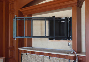 Cello custom products swing out tv mount for Motorized swing arm tv mount